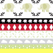 Gray Elephant YaYa diamond quilt