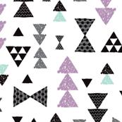 geometric tribal aztec triangle violet and blue modern patterns