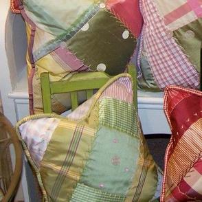 Crazy quilt pillows