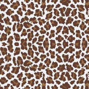 Sweet Leopard Sugar Sack Dk Brown/Brown/White