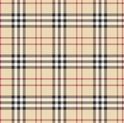 Fauxberry cream plaid