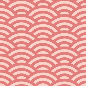 overlapping circles in coral