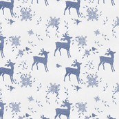 Deer Winter Toile