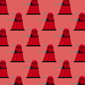 dalek doctor who 8 bit (red)