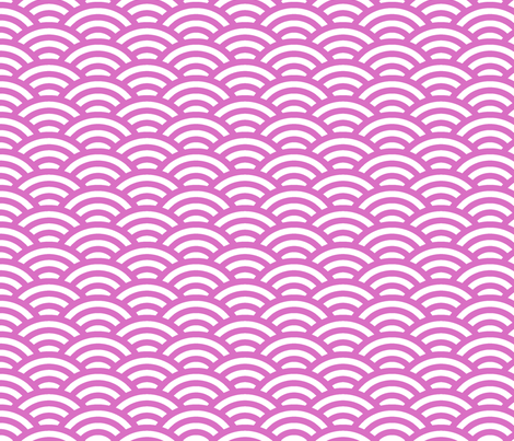 wild rose pink scallop