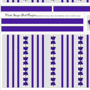 Violet Stripe Doll Pinafore