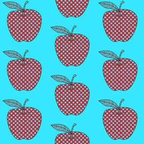 Apples Dots Aqua/Red