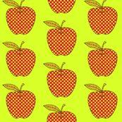Apples Dots Lime/Red
