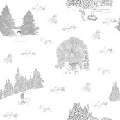 Winter Solstice - Toile Du Jouy