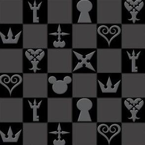 Kingdom Hearts Icons - Black