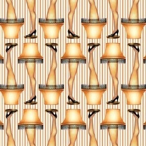 Leg Lamp on Stripes
