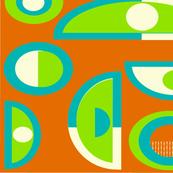 Mid-Century Modern Abstract Orange
