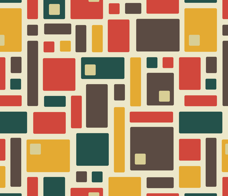 Mid-Century Squares (with cutouts)