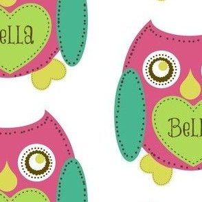 Lovely Owl - Berry Personalized