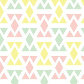 Geometric Triangle Diamonds - Peach, Lemon, and Pistachio