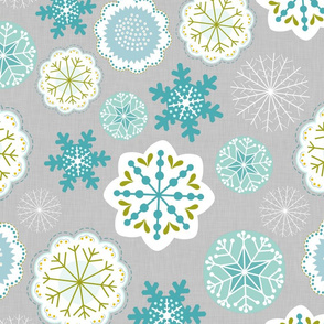 Snowflake Flowers in Linen