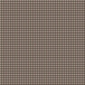 Micro Taupe Gingham