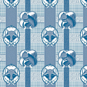 christmas_fox_gift_wrap_toile_blue
