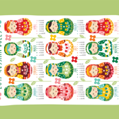 2017 Tea towel calendar - Russian dolls