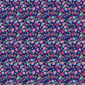 Navy & Pink Flowers