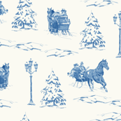 Dashing Through the Snow Toile