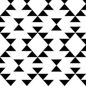 Black and White Navajo Inspired Geometric Triangles