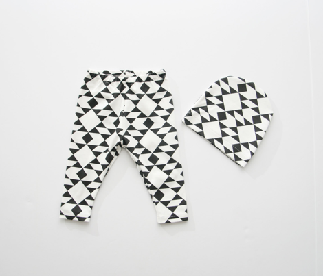 Navajo Inspired Black on White Geometric