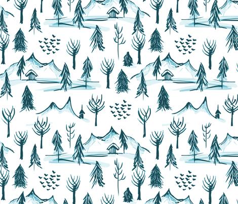 Scenes of Winter Toile