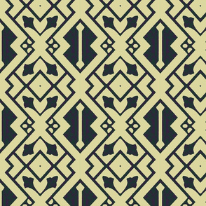 Tribal Geometric in Blue and Green