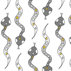 snakes white