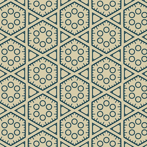 Hexagons and Circles in Aqua