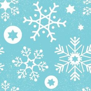 Hanukkah Snowflakes - Sky