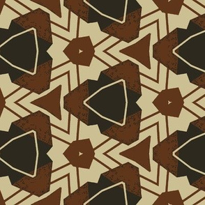 Abstract Geometric in Green and Brown