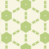 Light Green Hexagons on White