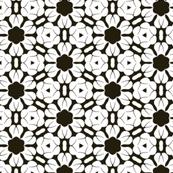 White Flowers over Black