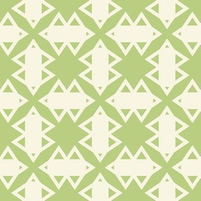 Green and White Geometric