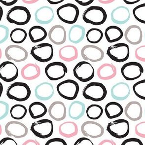 cute pastels girls raw circle geometric abstract illustration fabric