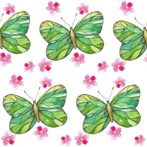 Green Butterflies
