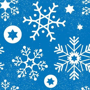 Hanukkah Snowflakes - Sea