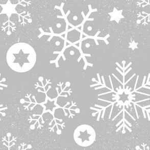 Hanukkah Snowflakes - Cloudy