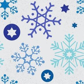 Hanukkah Snowflakes - Multi