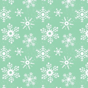 Winter Snowflakes - Mint