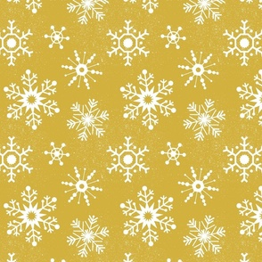 Winter Snowflakes - Gold