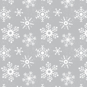 Winter Snowflakes - Cloudy