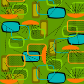 Mid-Century Modern Abstract Green-ed