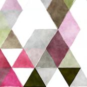 watermelon watercolor triangles