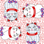 Maneki neko, 4 directional, by Su_G