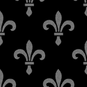 14th Century Fleur De Lys ~ Silver and Black