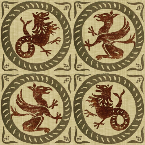13th Century Dragon Tile