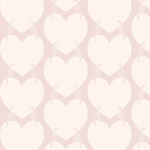 linking hearts, peach and coral